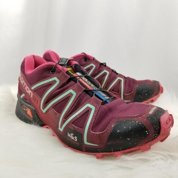 sports shoes 9b270 63d34 Salomon Speedcross 3 CS Womens Trail Sneakers
